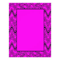 Pink and Black Geometric Wave Pattern Flyer