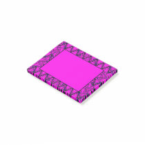 Pink and Black Geometric Wave Pattern Post-it Notes