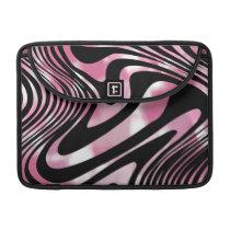 Pink and Black Glitzy Zebra Animal Print Sleeve For MacBooks