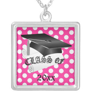 Pink and Black Graduation Necklace