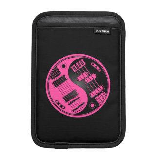 Pink and Black Guitar and Bass Yin Yang iPad Mini Sleeve