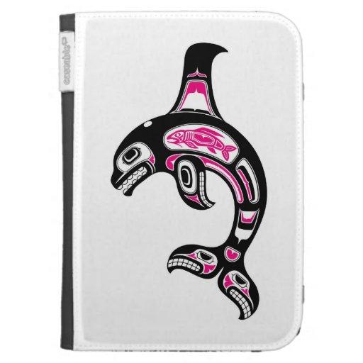 Pink and Black Haida Spirit Killer Whale Kindle Cover