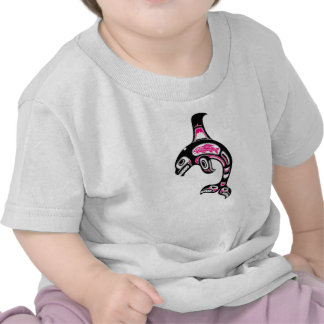 Pink and Black Haida Spirit Killer Whale T Shirt