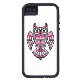 Pink and Black Haida Spirit Owl iPhone 5 Cover