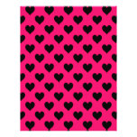 Pink and Black Heart Pattern Flyer