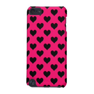Pink and Black Heart Pattern iPod Touch 5G Case