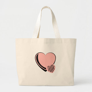 Pink and Black Hearts Canvas Bag
