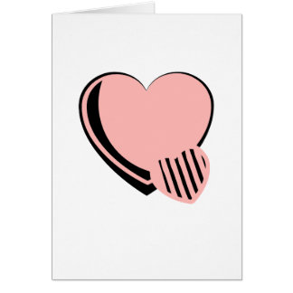Pink and Black Hearts Card