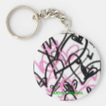 PINK AND BLACK HEARTS, Courtney's Creations Key Chains
