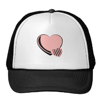 Pink and Black Hearts Trucker Hat
