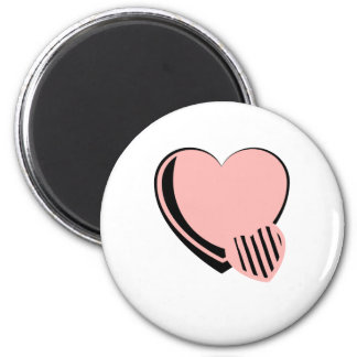 Pink and Black Hearts Refrigerator Magnets