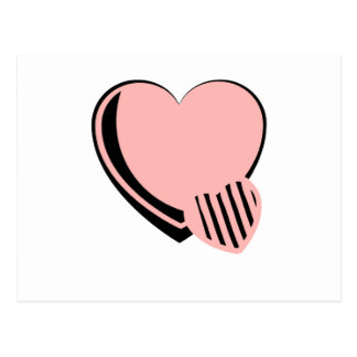 Pink and Black Hearts Postcard