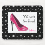 Pink and Black High Heel Mouse Pad