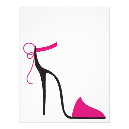 pink and black high heel shoe strappy letterhead zazzle
