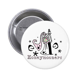 Pink and Black Honeymooners 2 Inch Round Button