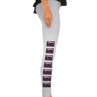Pink and Black Houndstooth Label Cassette Legging