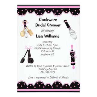 Pink and Black Kitchen Bridal Shower Invitation