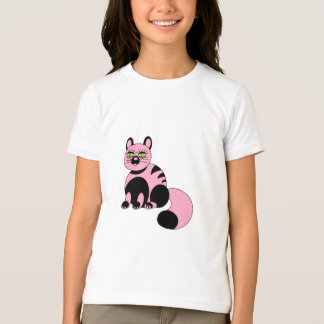 Pink and Black Kitty T-Shirt