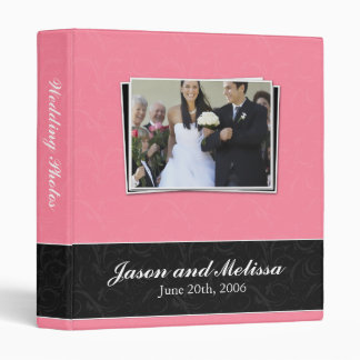 Pink and Black Lace Wedding Binder
