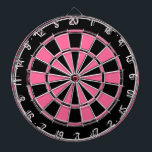 "Pink and black ladies dartboard<br><div class=""desc"">Pink and black ladies dartboard. Add a name optional</div>"