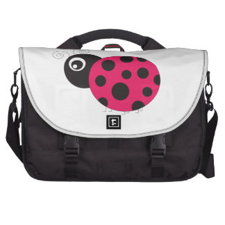 Pink and Black Ladybug Faded Commuter Bags