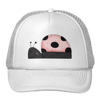 Pink and Black LadyBug Shirts Trucker Hat