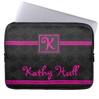 Pink and Black Laptop Sleeve