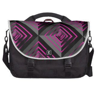 Pink and Black Layers Laptop Bag