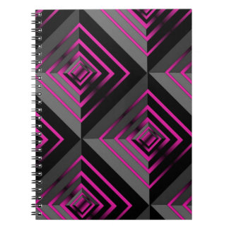 Pink and Black Layers Note Book