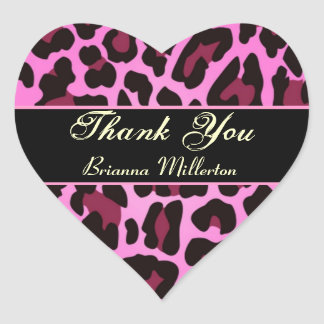 Pink and Black Leopard Party Sticker