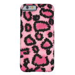 Pink and Black Leopard Pattern. iPhone 6 Case