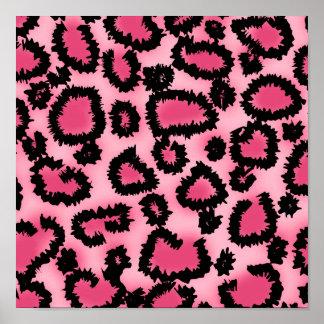 Pink and Black Leopard Print Pattern.