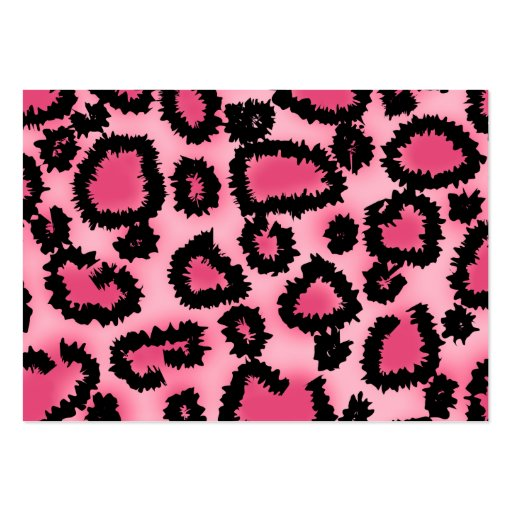 Pink and Black Leopard Print Pattern. Business Cards