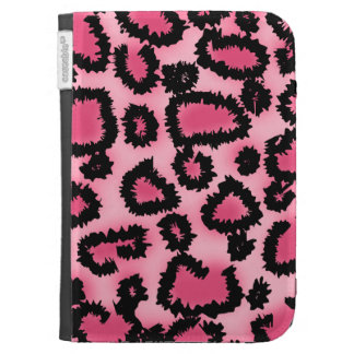 Pink and Black Leopard Print Pattern. Kindle 3G Cover
