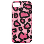 Pink and Black Leopard Print Pattern. iPhone 5 Cover