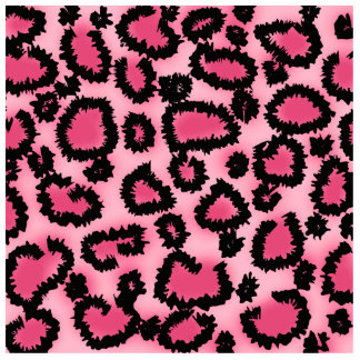 Pink and Black Leopard Print Pattern. Cutout
