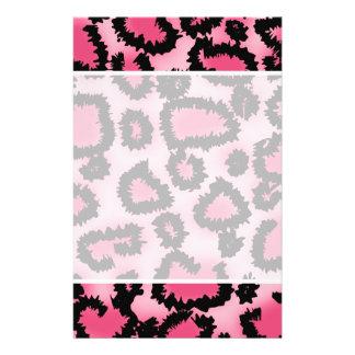Pink and Black Leopard Print Pattern. Flyer