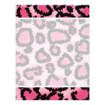 Pink and Black Leopard Print Pattern. Flyer