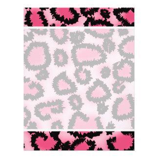 Pink and Black Leopard Print Pattern Custom Flyer