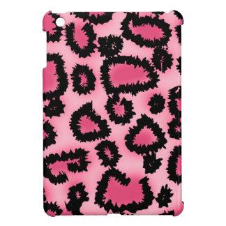Pink and Black Leopard Print Pattern. iPad Mini Cover