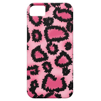 Pink and Black Leopard Print Pattern. iPhone SE/5/5s Case