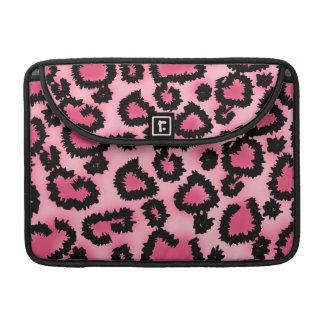 Pink and Black Leopard Print Pattern. Sleeve For MacBooks