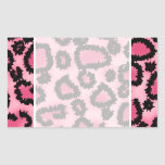 Pink and Black Leopard Print Pattern. Stickers