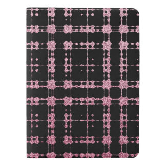 Pink and Black Modern Plaid Netted Ombra Extra Large Moleskine Notebook