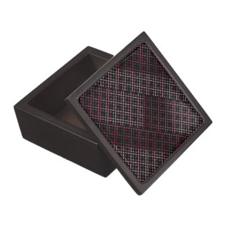Pink and Black Modern Plaid Netted Ombra Gift Box