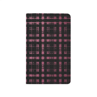 Pink and Black Modern Plaid Netted Ombra Journal