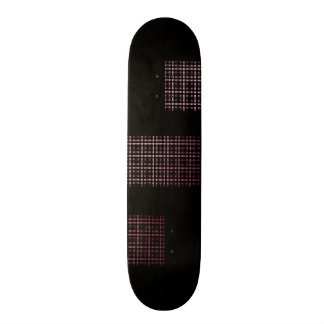 Pink and Black Modern Plaid Netted Ombra Skateboard