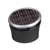 Pink and Black Modern Plaid Netted Ombra Speaker