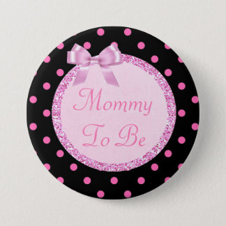 Pink and Black Mommy to Be Baby Shower Pin