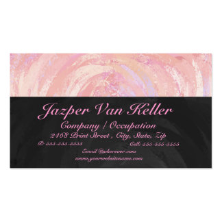 Pink and Black Monogram Double-Sided Standard Business Cards (Pack Of 100)